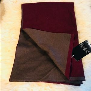 Other - 🧣Brown burgundy winter wool scarf NWT 10X60